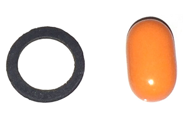 EPDM, 60 Durometer (pictured next to a Tic-Tac)